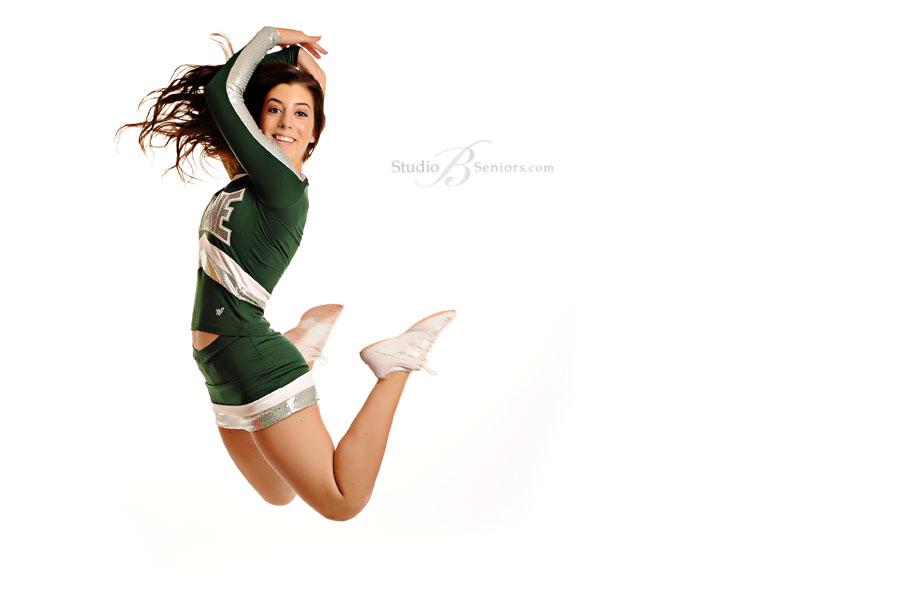 Skyline-High-School-Cheerleader-in-portrait-studio