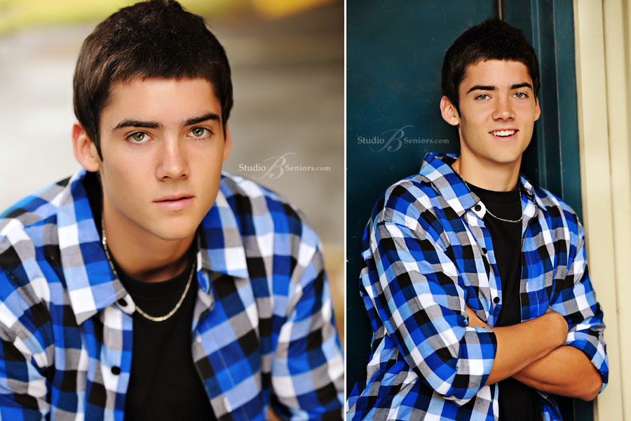 Boy-high-school-senior-pictures-photographed-at-Studio-B-Portraits-in-Issaquah in the rain