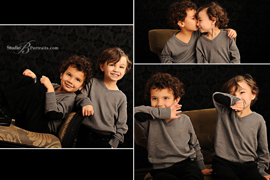 Childrens-portrait-of-cute-twin-boys-at-Studio-B-Portraits