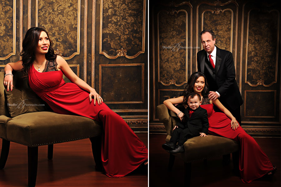 Formal-family-portraits-at-Studio-B-Portraits-inspired-by-the-Kardashian-Christmas-Card