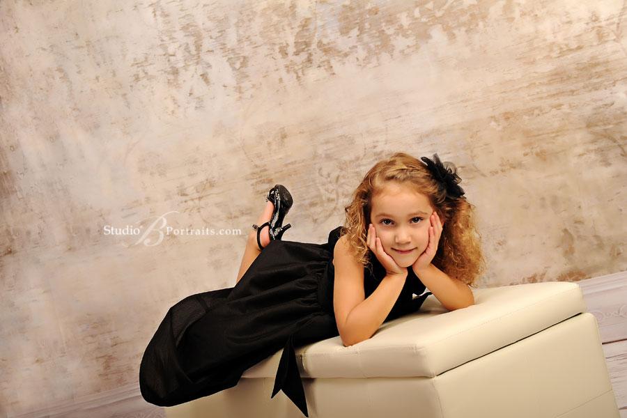 Pretty-girl-in-black-formal-dress-at-Studio-B-Portraits