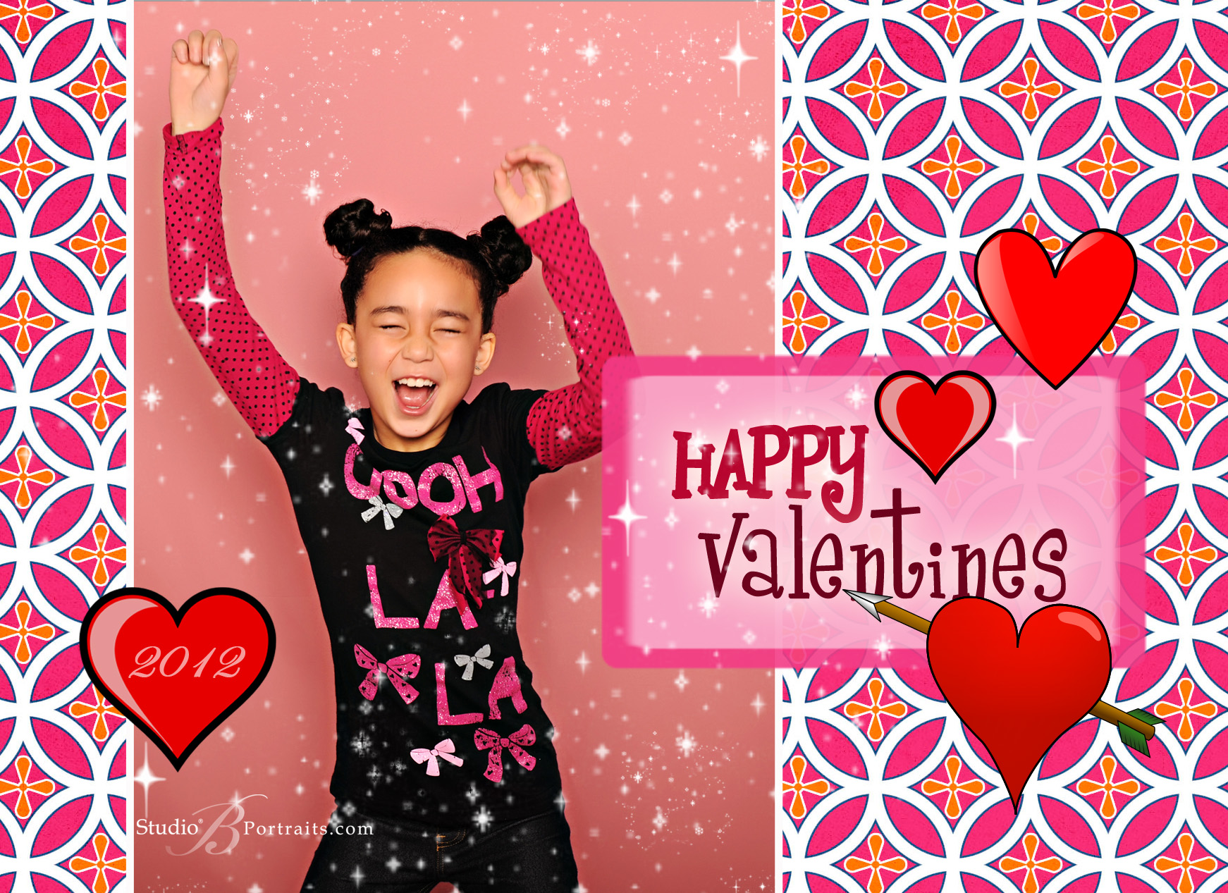 Photo Valentine cards at Studio B Portraits in Issaquah