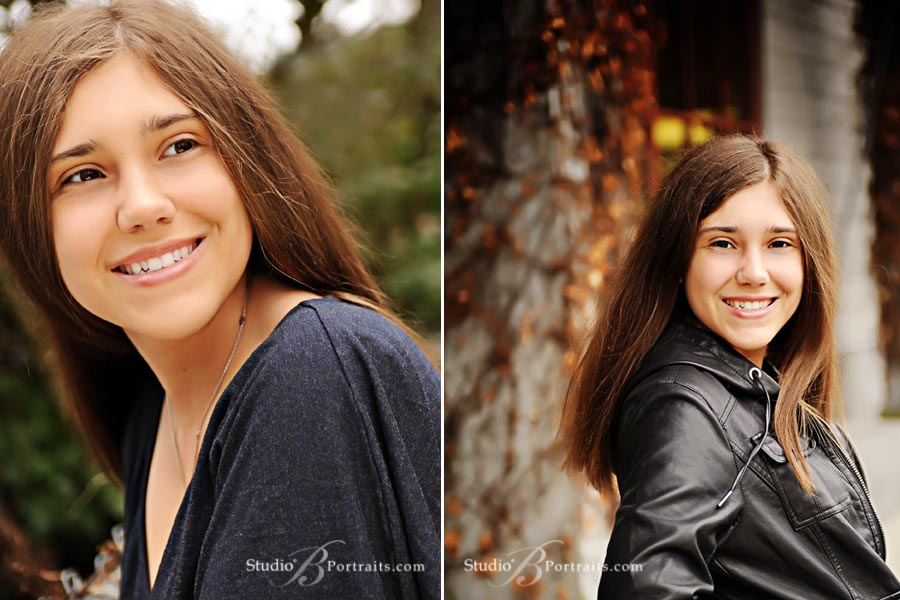 Pretty senior pictures at Studio B Portraits in Issaquah