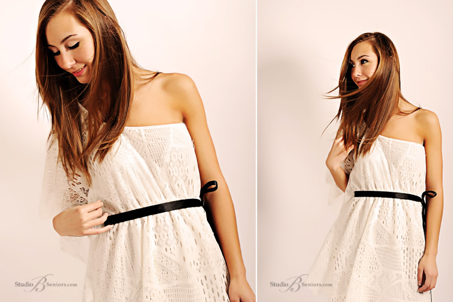 Pretty-senior-pictures-girl-in-toga-style-dress-at-Studio-B-Portraits