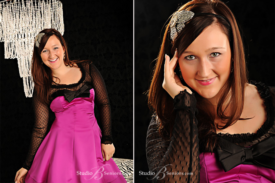 High-School-Senior-Pictures-featuring-pretty-girl-in-Betsy-Johnson-prom-dress-in-Issaquah