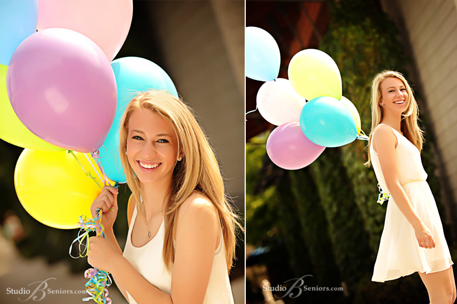 Pretty-Blonde-high-school-senior-with-balloons-from-Eastlake-Sammamish