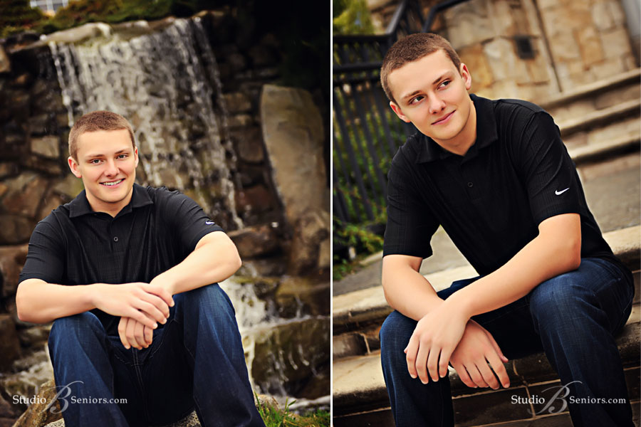 Outdoor-senior-pictures-of-boy-on-location-in-Bellevue-at-Newcastle-Golf-Club