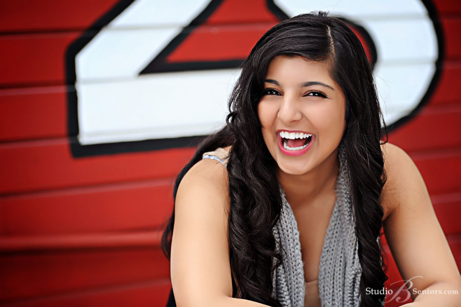 Skyline-High-School-girl-laughing-outside-during-senior-pictures