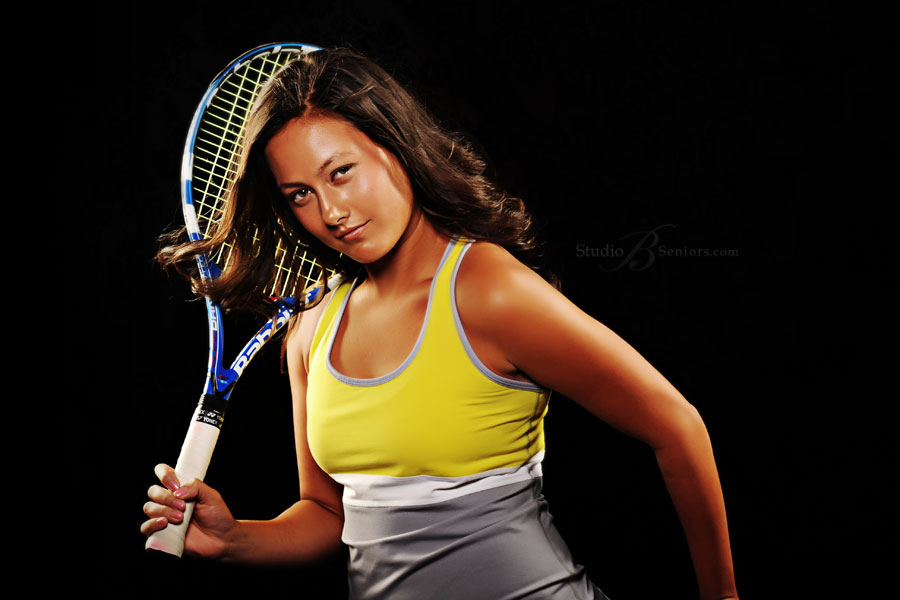 Cool-tennis-senior-picture-of-beautiful-girl-from-Issaquah-High-School-at-Studio-B-Portraits