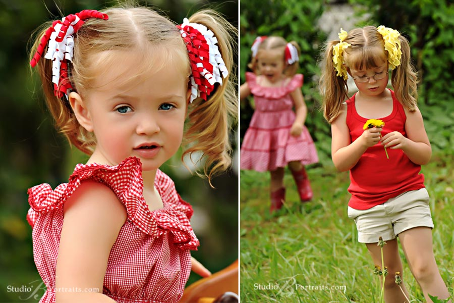 Pretty-little-2-year-old-girl-in-red-gingham-dress-at-Studio-B-Portraits-picture-session-near-Bellevue