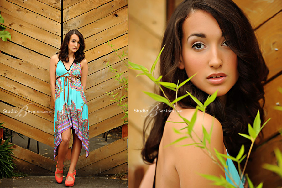 Best-senior-pictures-in-Seattle-of-Woodinville-High-School-girl-in-pretty-sundress-at-Studio-B