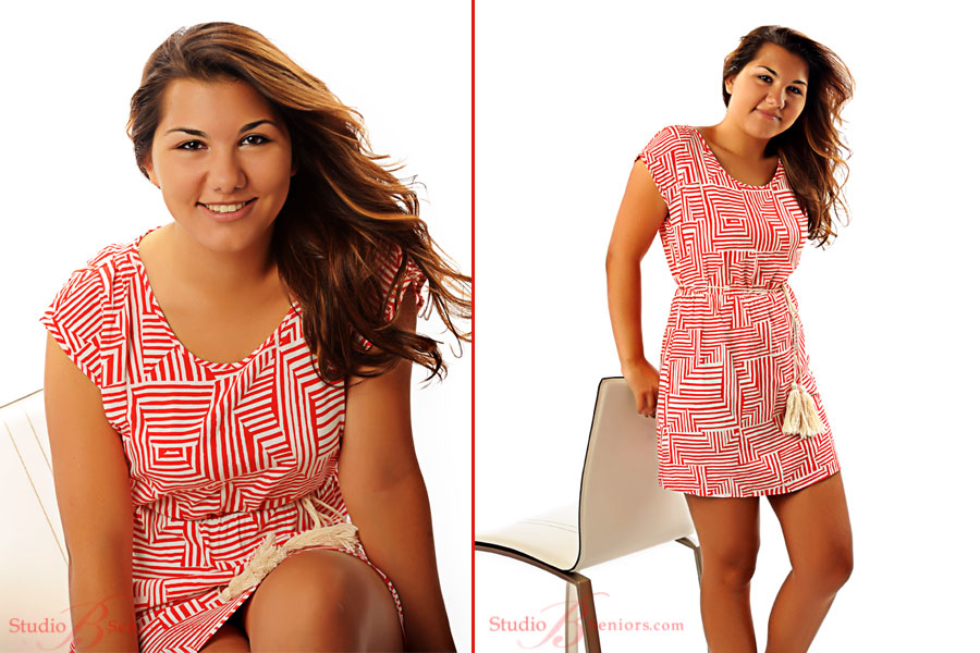 Fashion-inspired-senior-pictures-of-High-School-senior-girl-in-red-geometric-dress