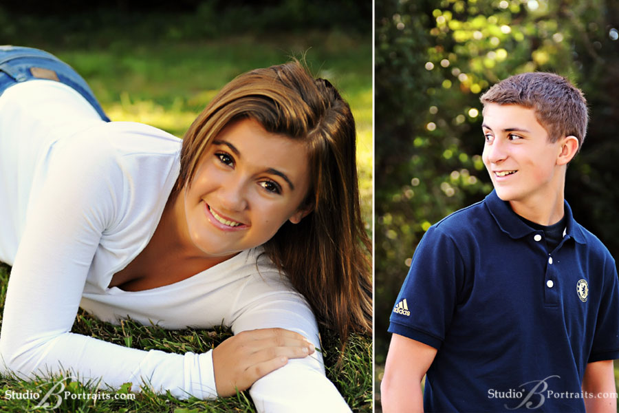 Outdoor-family-portraits-of-teenage-boy-and-girl-in-Issaquah