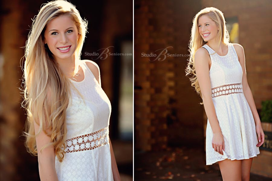 Best-senior-pictures-in-Bellevue-of-West-Seattle-high-school-girl-outdoors-at-Studio-B-in-white-dress