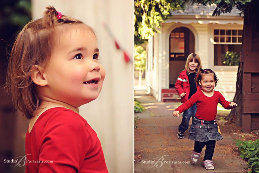 Pretty-baby-girl-running-with-brother-during-family-pictures-at-Studio-B-in-Issaquah