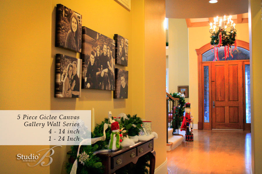Custom-wall-portrait-design-featuring-family-portraits-by-Studio-B-near-Bellevue-WA