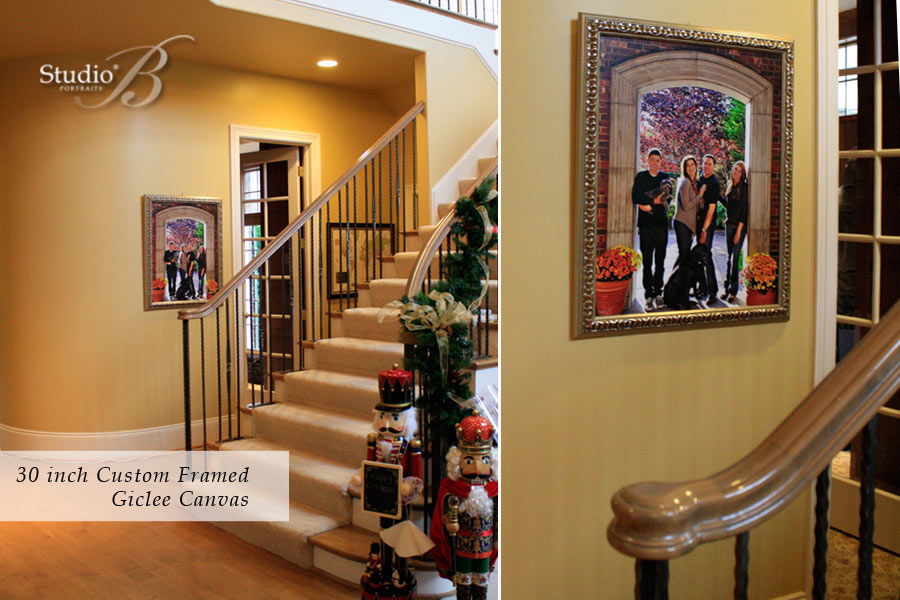 Decorating-with-Family-Pictures_Wall-by-the-stairs_Studio-B-Portraits