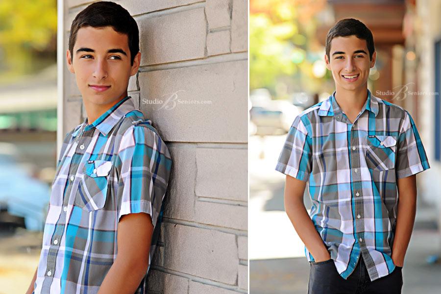 Outdoor-senior-pictures-of-Eastside-Catholic-boy-at-Studio-B-near-Sammamish