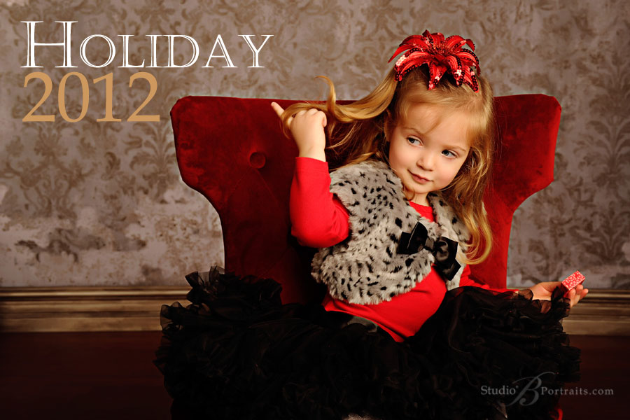 Studio B Portraits Holiday Family Photography Sessions and ordering deadlines