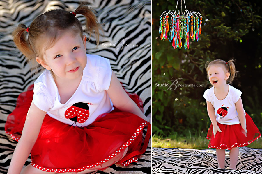 Great-childrens-pictures-of-3-year-old-on-zebra-blanket-with-tutu-at-Studio-B-Portraits_2