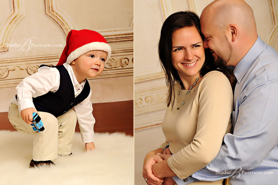 Great-family-portraits-in-Seattle-of-cute-couple-and-their-kids-at-Studio-B-Portraits