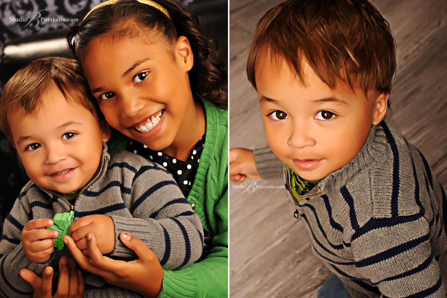 Great-childrens-portraits-of-brother-and-sister-at-Studio-B-Portraits