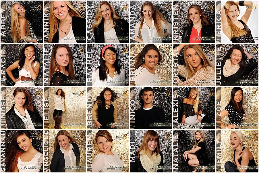 High School Senior Picture Model Team 2014 at Studio B Portraits