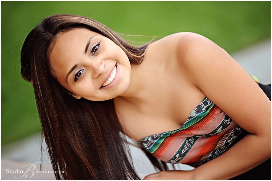 Best Girl Senior Pictures wearing dress in the grass_Studio B Portraits_Hildalgo.jpg