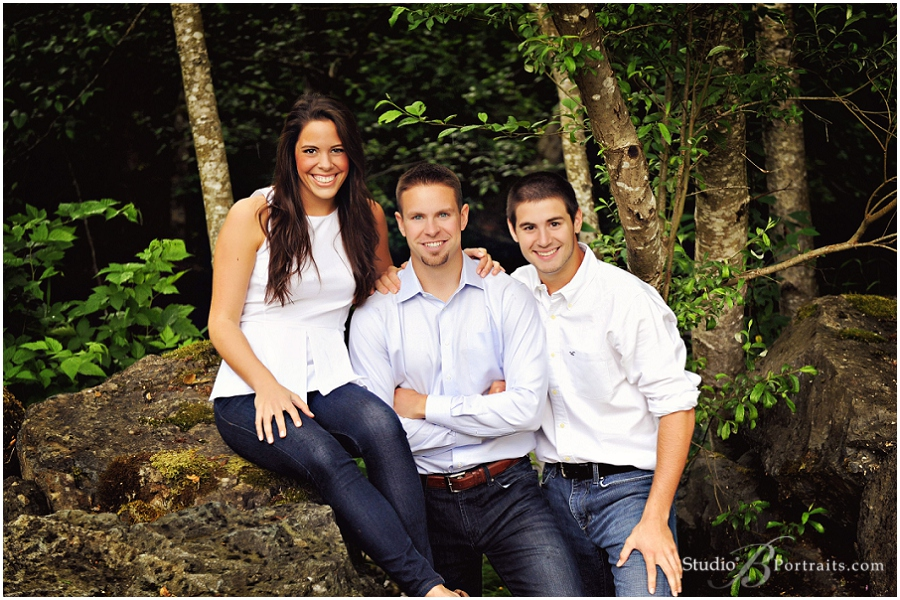Great outdoor family portraits in wood near stream_Studio B_0022.jpg