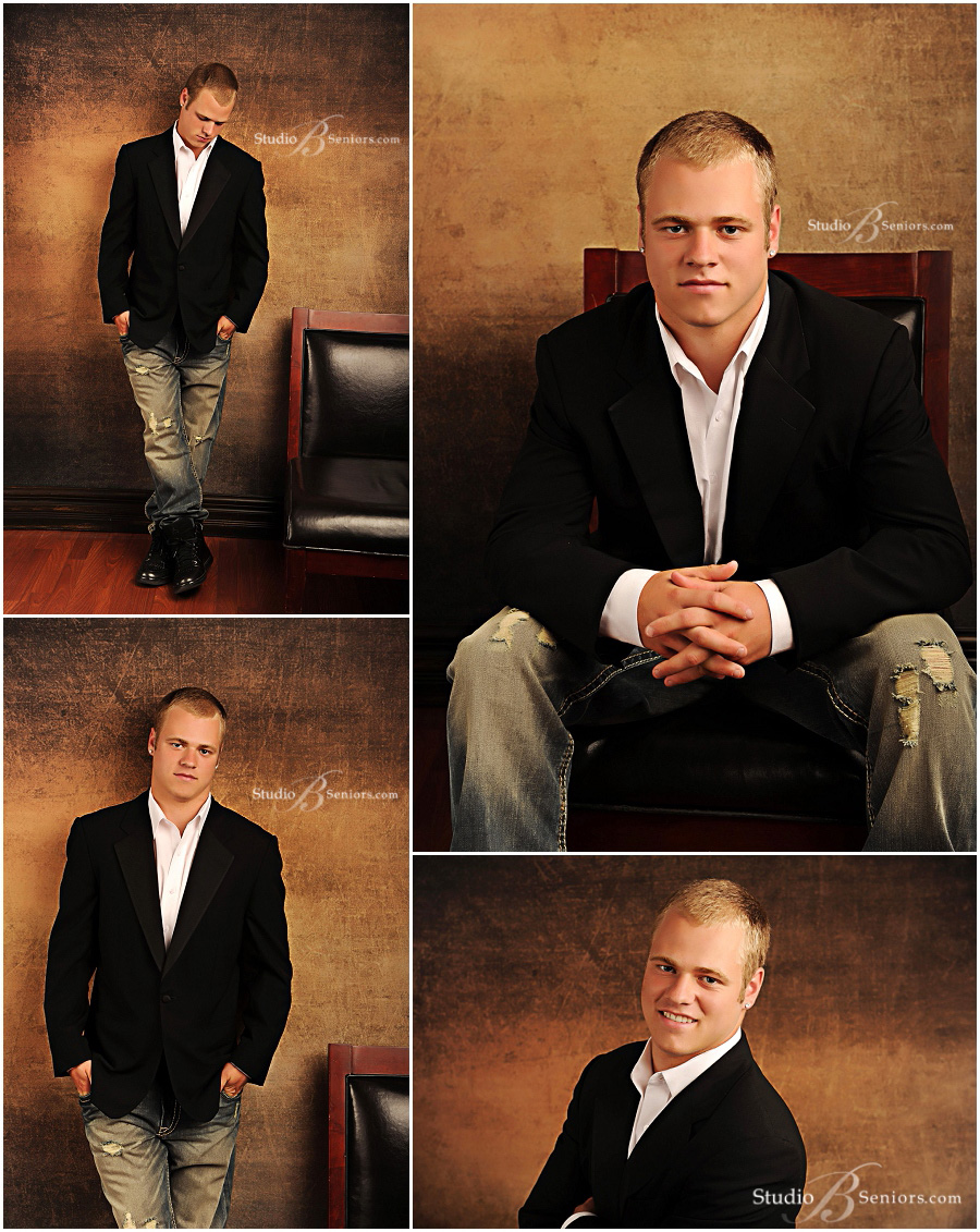 Great guy senior pictures in suit and jeans of Bellevue High School boy_Studio B Portraits_0051.jpg