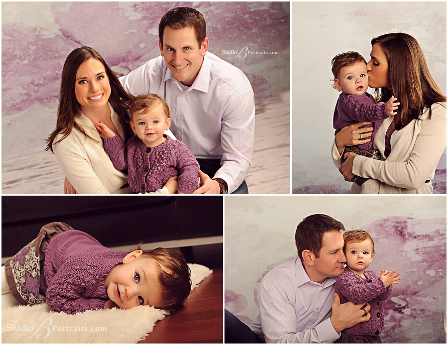 Best holiday family portraits of pretty couple with baby girl__Brooke Clark_Studio B Portraits_0154.jpg