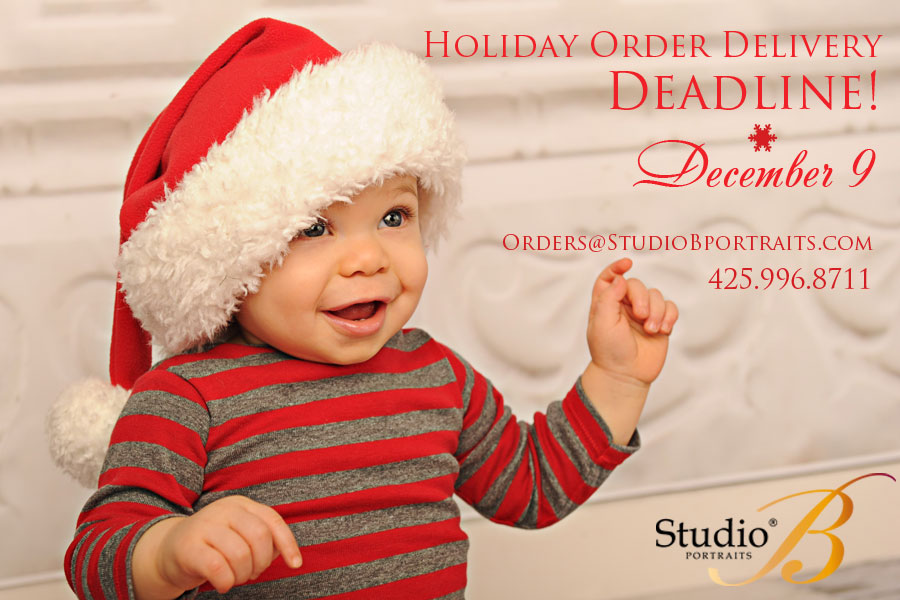 Studio B Portraits Christmas Order Deadline