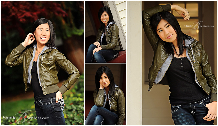 Outdoor senior pictures of pretty Asian girl in moto jacket__Brooke Clark_Studio B Portraits_0149.jpg