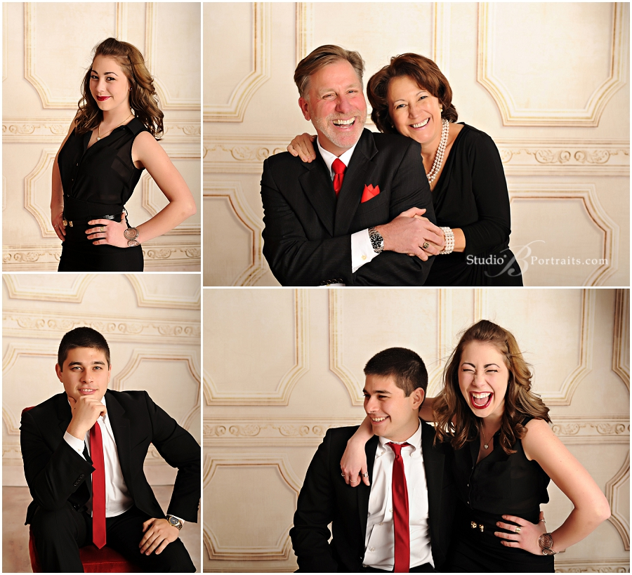 Formal holiday family pictures with black, red and white colors__Brooke Clark_Studio B Portraits_0167.jpg
