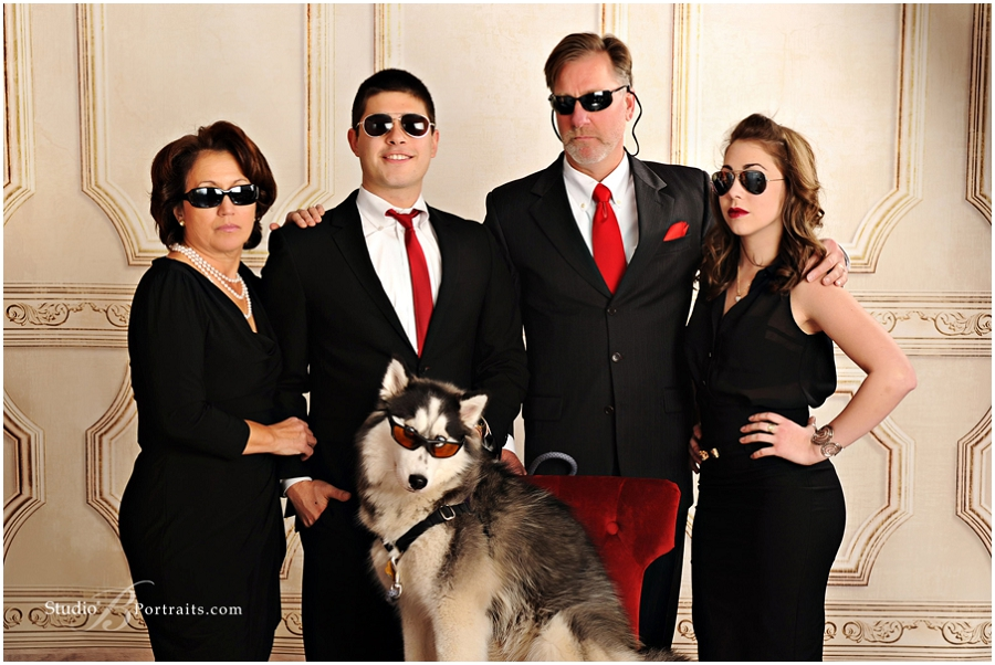 Formal Family Portraits With Husky Dog Portrait Studio