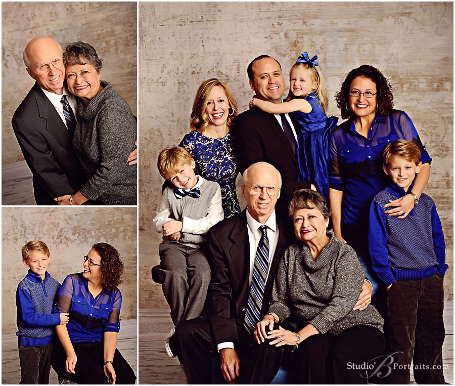 Family Pictures Royal Blue