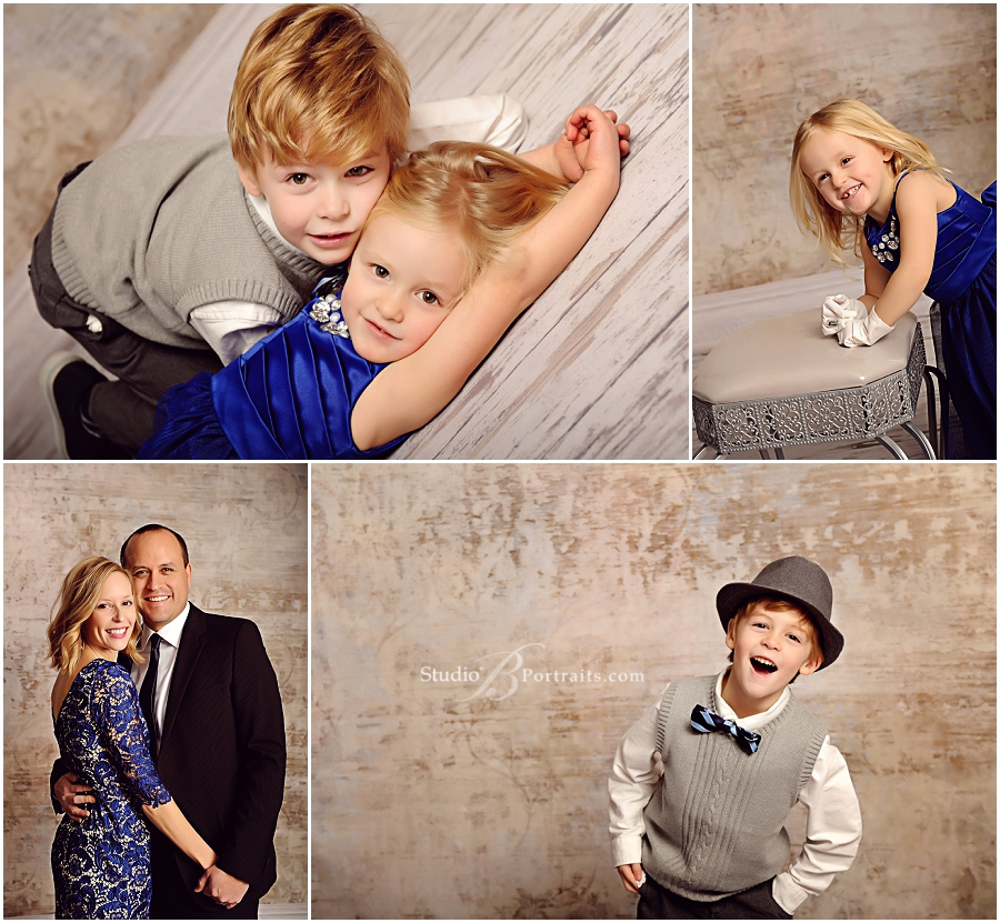 Modern family pictures of pretty couple in suit and royal blue dress_Studio B Portraits professional photographer near Bellevue_0191.jpg