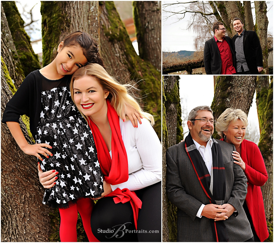 Winter outdoor family pictures in black and red_Studio B Portraits professional photographer near Bellevue_0194.jpg