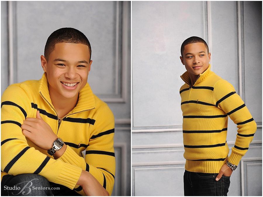 African-American-black-teenage-boy-in-yellow-stripe-sweater_StudioBportraits