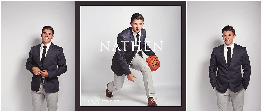Boy Senior Pictures in suit with basketball_Studio B Portraits_Grimm_0241.jpg