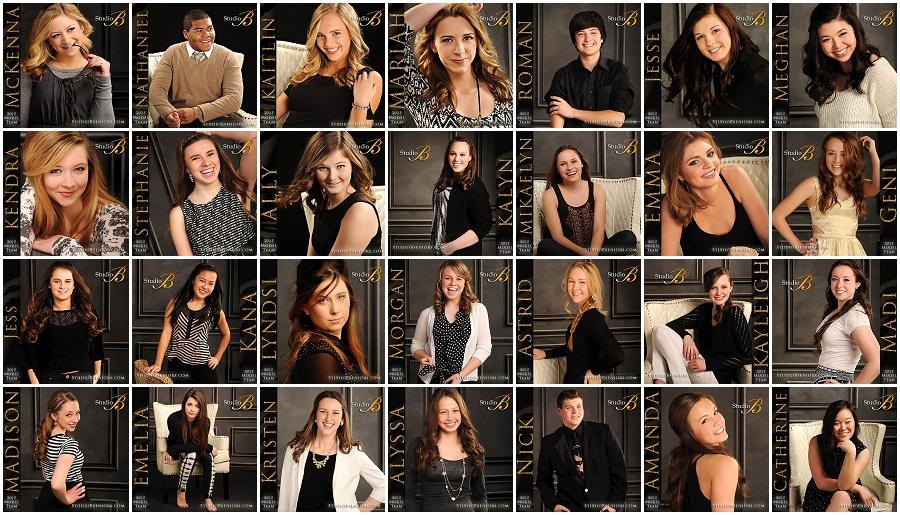 Studio B Seniors 2015 Model Team