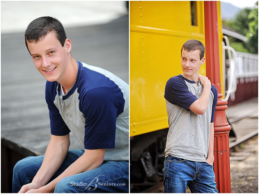 High School senior boy pictures on a train_Cedar Park Christian High School Boy_Studio B Portraits_0399.jpg