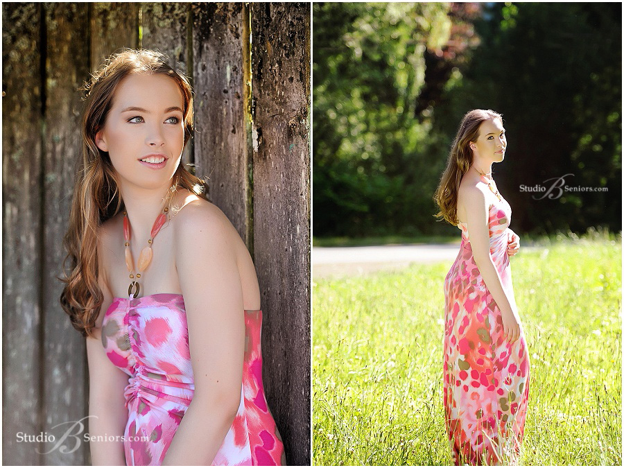 Senior pictures of Liberty High School Senior in pink sundress in field_Studio B Portraits_0388