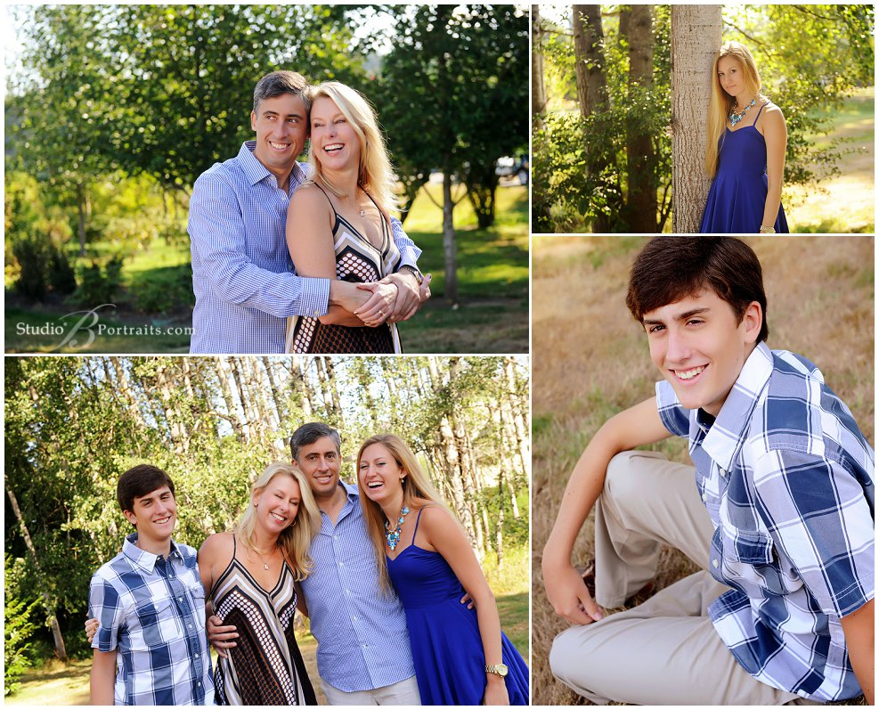 Outdoor family pictures in Issaquah_Studio B Portraits