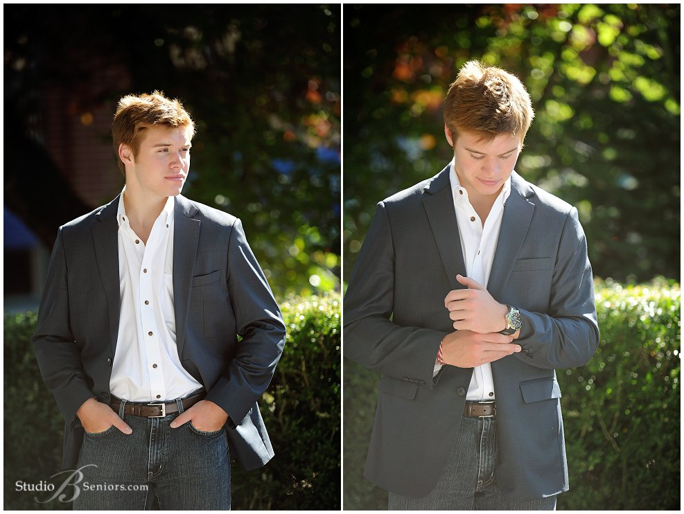 Mercer Island High School Senior Boy in dress jacket and shirt_Studio B Portraits_0014