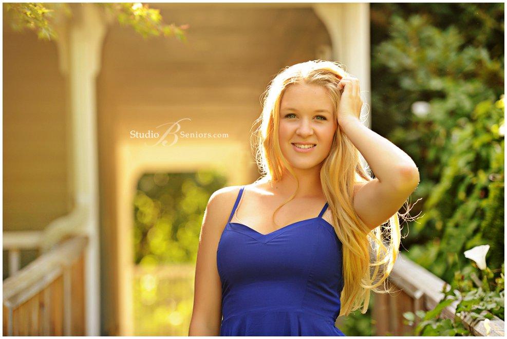 Pretty blonde girl from Eastside Catholic in blue dress_Studio B Portraits_0018