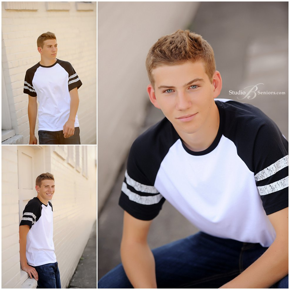 Studio B Portraits_Athletic wear for boy senior pictures