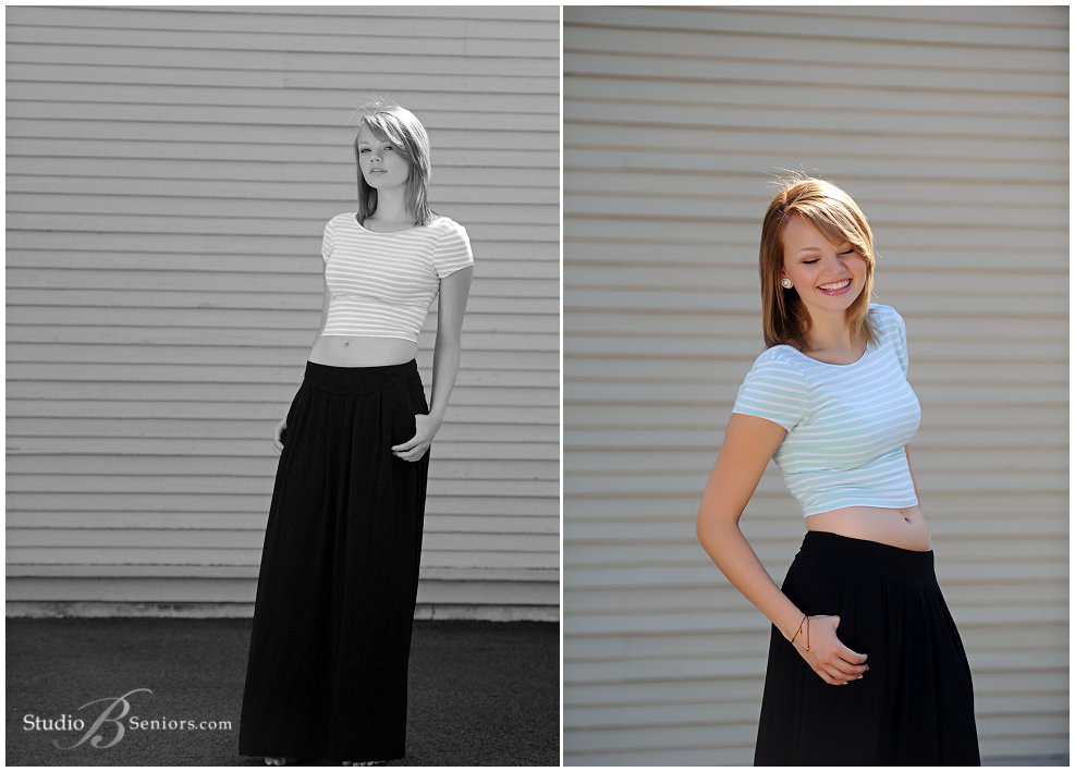 Fashion inspired senior pictures of girl in maxi and stripes_Studio B Portraits_0141.jpg