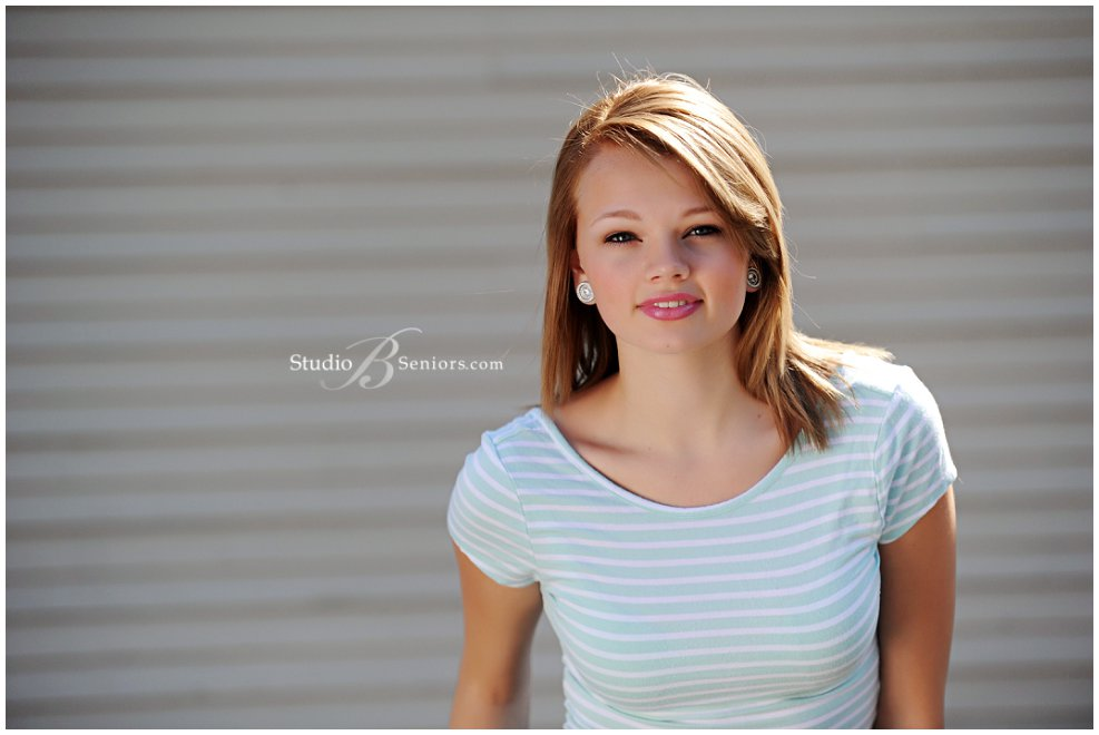 Fashion inspired senior pictures of girl in maxi and stripes_Studio B Portraits_0142.jpg