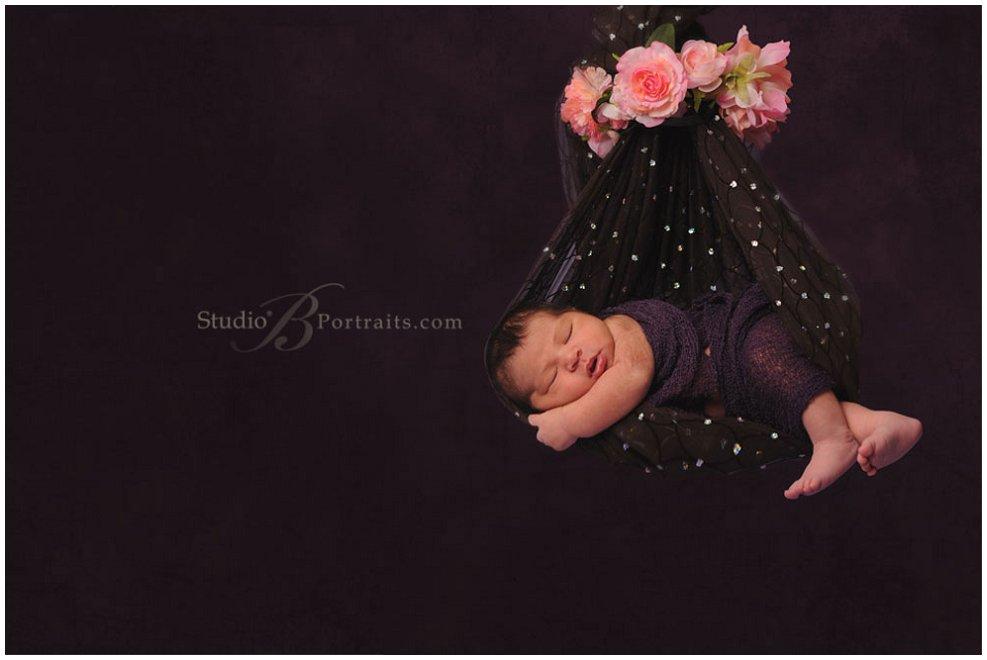Great newborn portraits of baby girl 8 days old_Studio B near Bellevue_0191